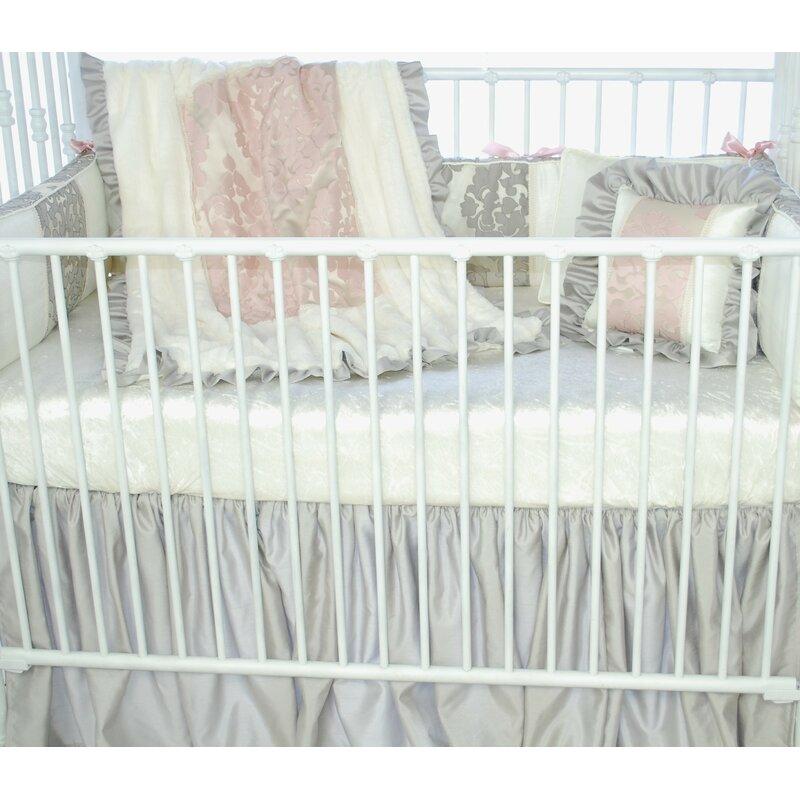 Blueberrie Kids Pink Champagne 3 Piece Crib Bedding Set Reviews Wayfair