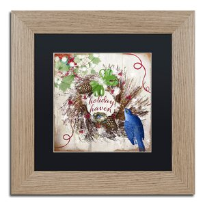 'Bluebird Christmas II' by Color Bakery Framed Graphic Art