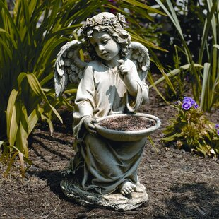 Roman, Inc. Angel Sitting Decorative Tray Bird Feeder