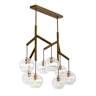 Demelza 8-Light Cluster Pendant by Wrought Studio