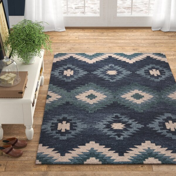 Damien Hand Tufted Blue Area Rug Reviews Birch Lane