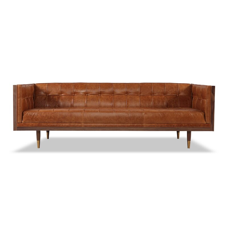 Corrigan Studio Carey Leather Chesterfield Sofa & Reviews | Wayfair