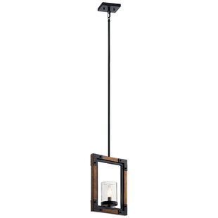 Gracie Oaks Caulksville 1-Light Rectangle Pendant