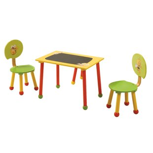 Biene Maja Children's 3 Piece Table and Chair Set by Roba