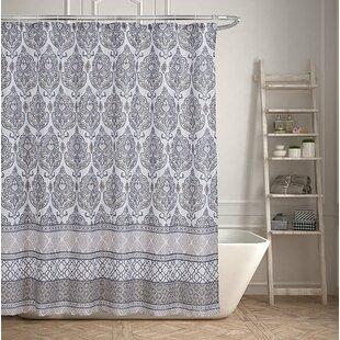 Read Reviews Geometric Damask Inspired Shower Curtain ByOphelia & Co.