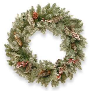 Snowy Fir Wreath By The Seasonal Aisle