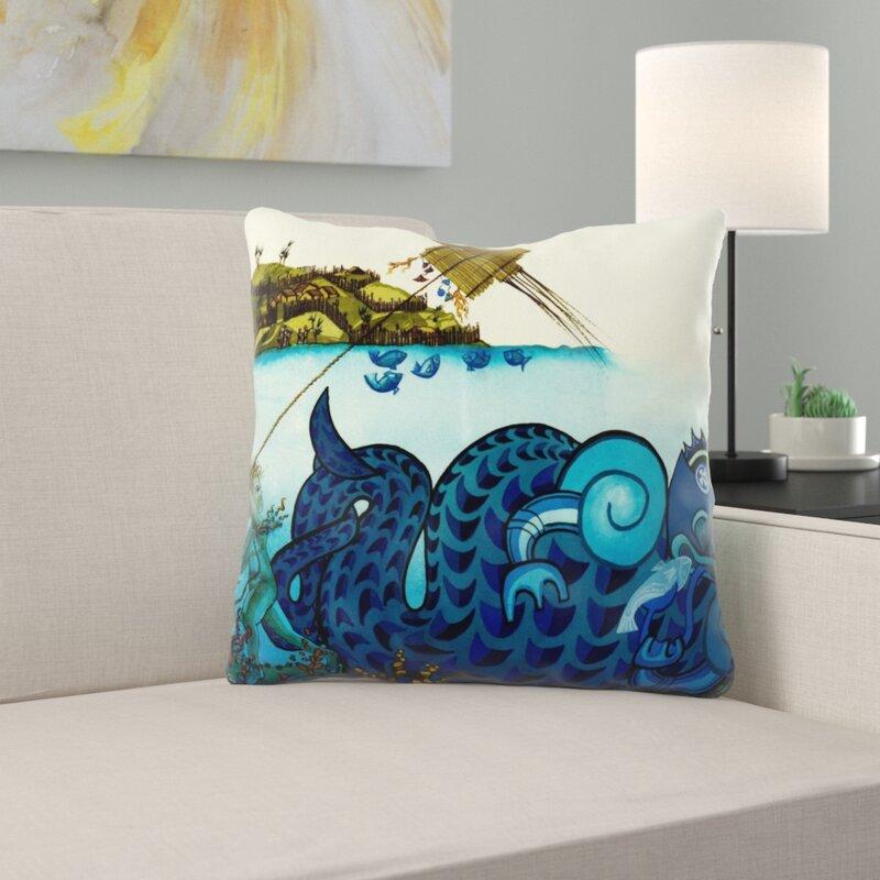 Ebern Designs Poche Sea Throw Pillow Wayfair