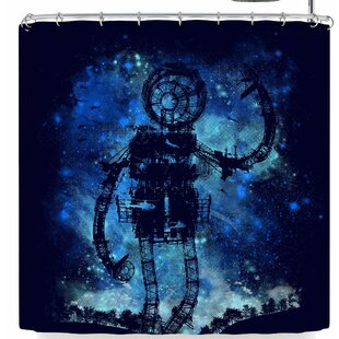 East Urban Home Frederic Levy-Hadida Mad Robot Shower Curtain