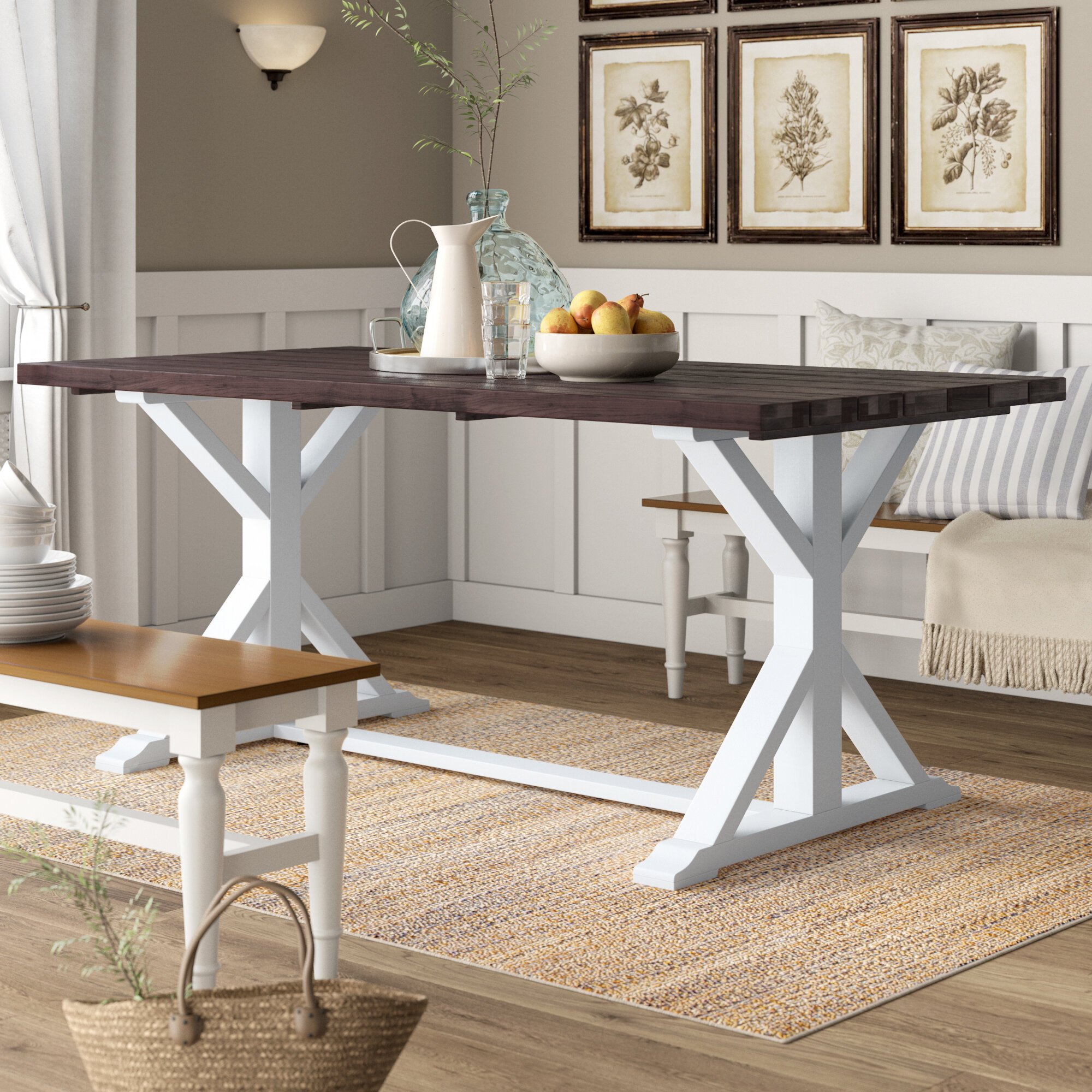 Chauncey Solid Wood Dining Table