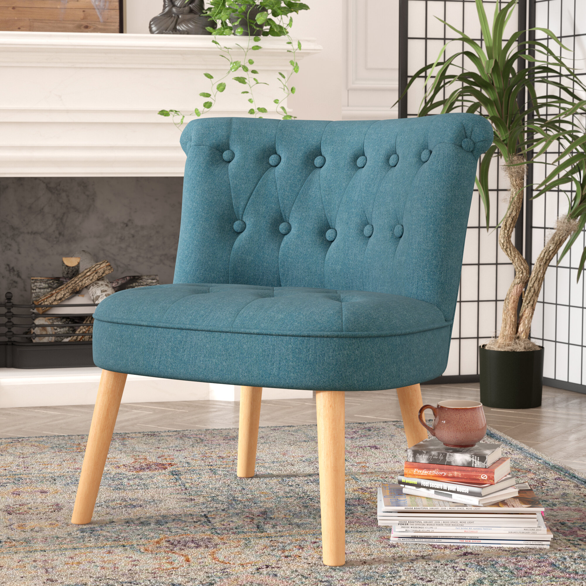 4bb51c7fc Bungalow Rose Leudelange Slipper Chair   Reviews