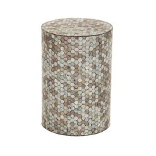 Mosaic Wooden Inlay Accent Stool by ABC Home Collection