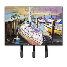 Sailboats at The Fairhope Yacht Club Docks Leash Holder and Key Hook by Caroline's Treasures