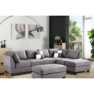 Amberwood Reversible Chaise Sectional by Red Barrel Studio