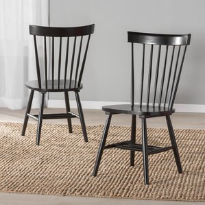 black kitchen & dining chairs you'll love | wayfair