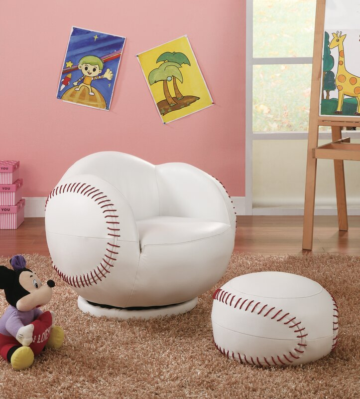 default name. Wildon Home   Baseball Kids Novelty Chair and Ottoman   Reviews