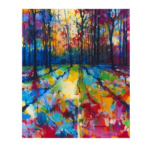 'Mile End Woods' by Doug Eaton Acrylic Painting Print