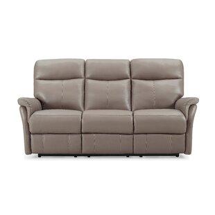 Charlene Genuine Leather 3 Seater Reclining Sofa By Ebern Designs