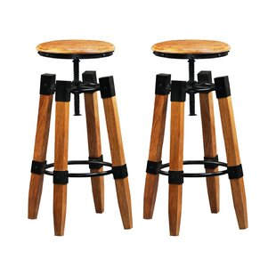 Imani Height Adjustable Bar Stool (Set Of 2) By Williston Forge