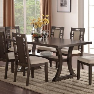 Wick, Somerset Rubber Wood Dining Table Millwood Pines