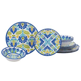 Hoehn 12 Piece Melamine Dinnerware Set, Service for 4