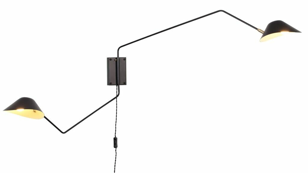 Creswell 2 Light Swing Arm Lamp