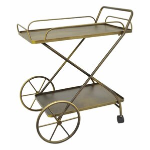 Metal Rolling Bar Cart by Three Hands