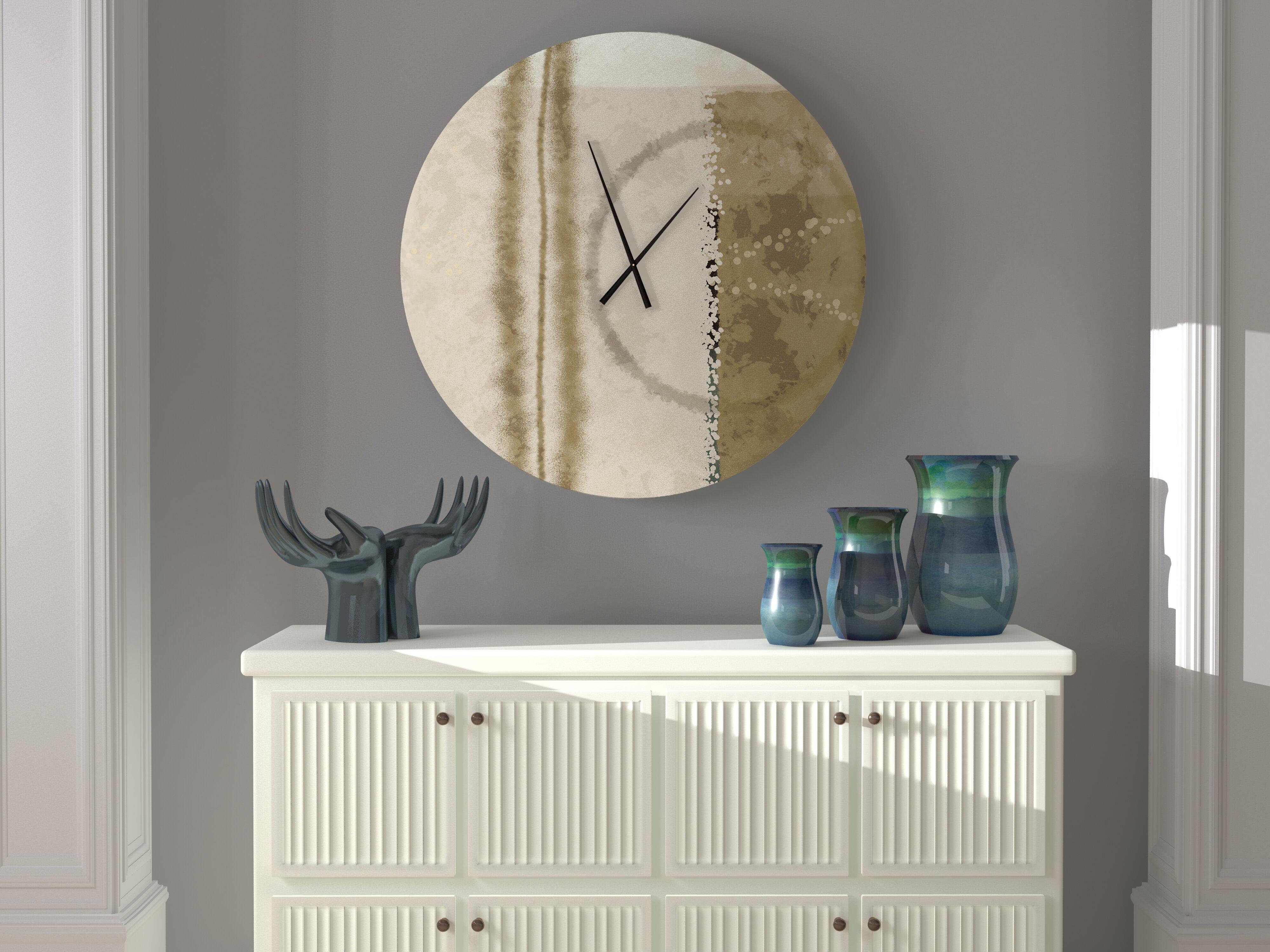 Latitude Run Indefatigable Prominent Abstract Metal Wall Clock Wayfair