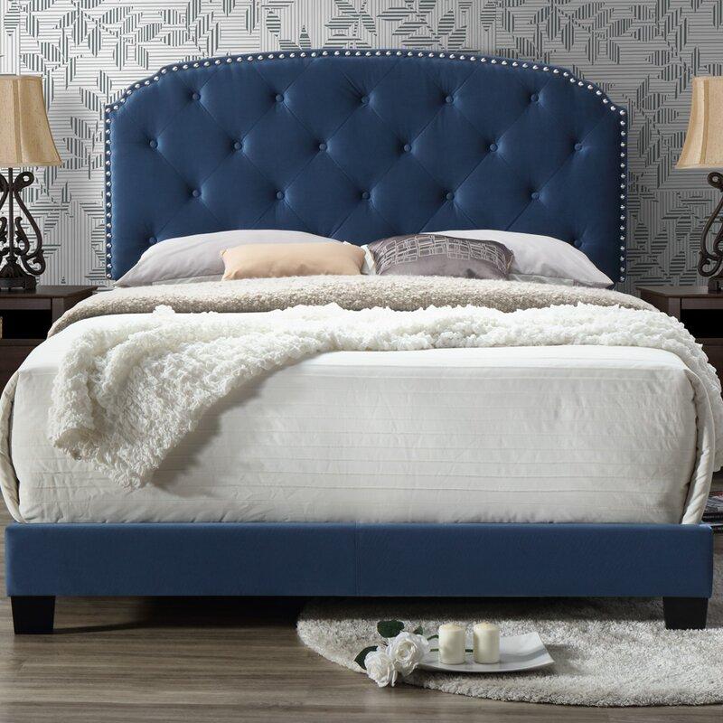 Noelie Queen Upholstered  Panel Bed