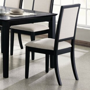 Kraatz Wooden Upholstered Dining Chair (Set of 2)