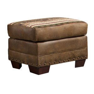 Lodge Wild Horses Ottoman by American Furnit..