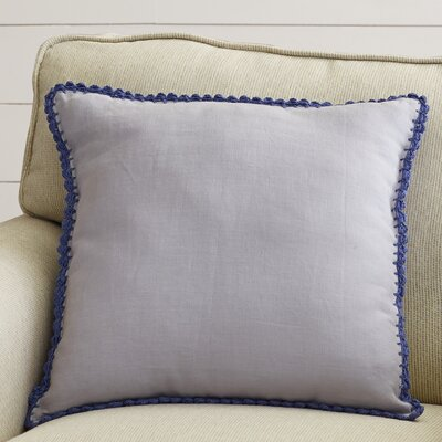 "Lark Manor Guerrette Linen Throw Pillow Colour: Lavender/Violet, Size: 22"" H x 22"" W x 4"" D, Filler: Polyester"