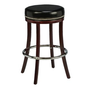 Amoroso Beechwood Backless Bar Stool with Head Nail Trim Red Barrel Studio