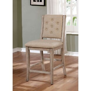Seraphina Counter Height Upholstered Dining Chair (Set of 2) Ophelia & Co.