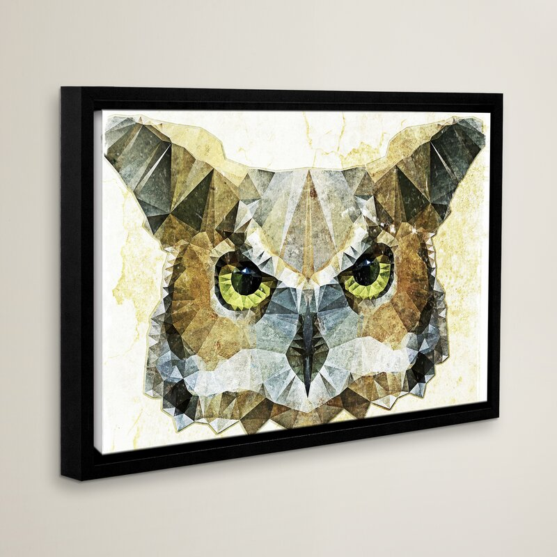 Loon Peak Abstract Owl Graphic Art On Wrapped Canvas Reviews Wayfair