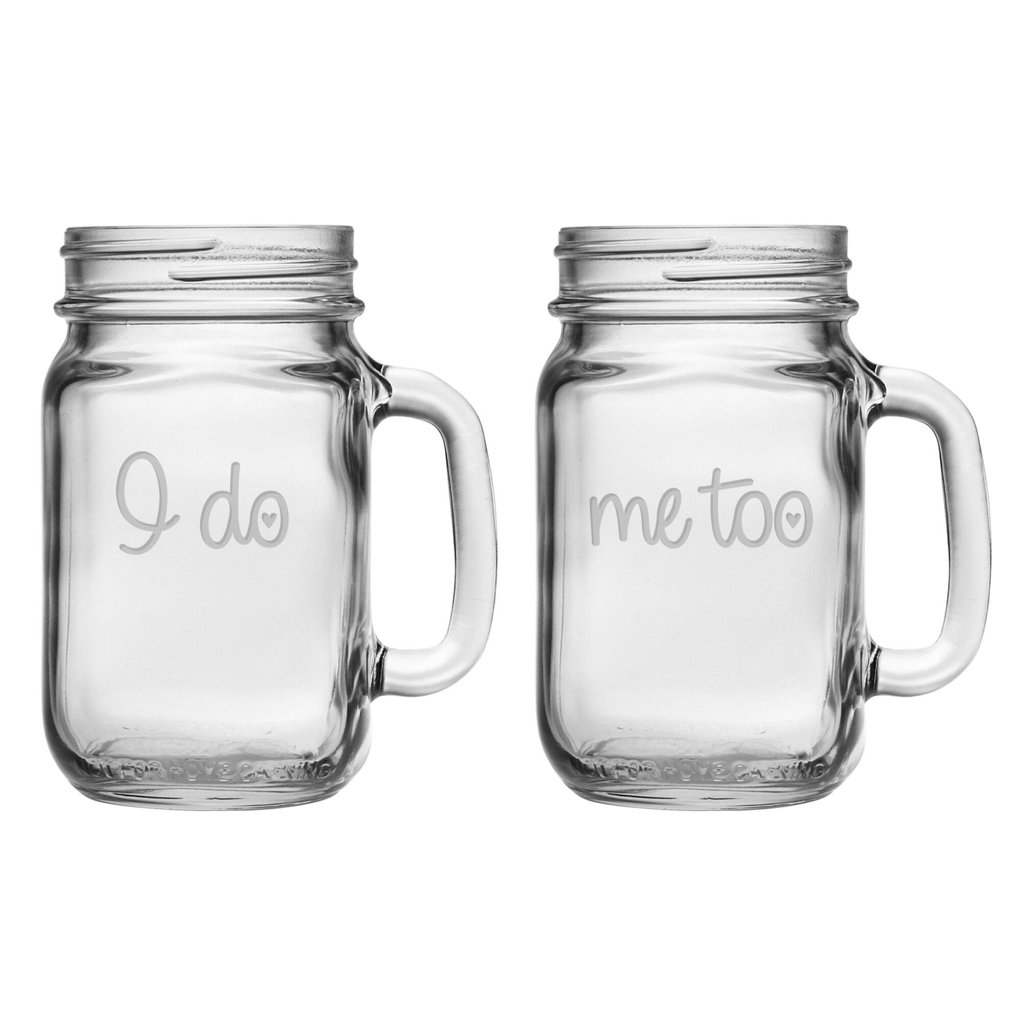 i do me too 16 oz glass mason jar