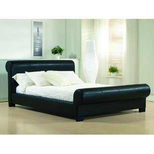 upholstered leather sleigh bed. 0% APR Financing Upholstered Leather Sleigh Bed S