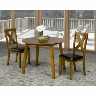 Flood 3 Piece Drop Leaf Breakfast Nook Dining Set