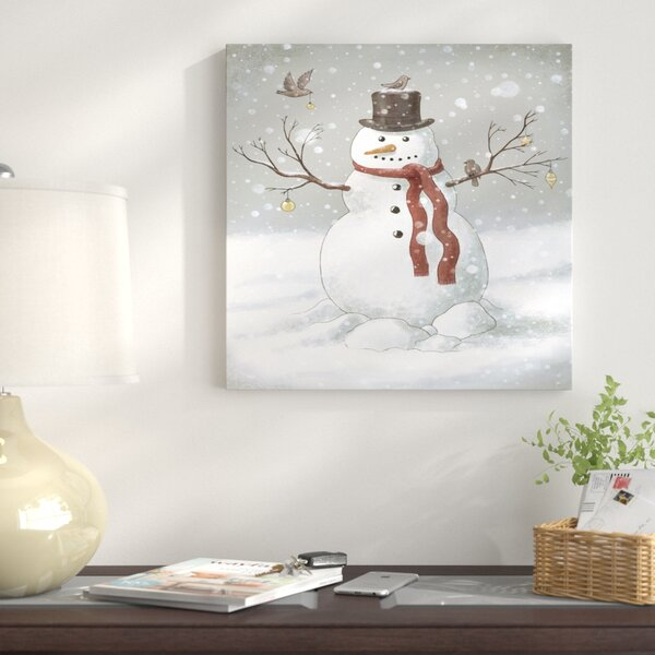 Christmas Snowman Painting Print On Wrapped Canvas