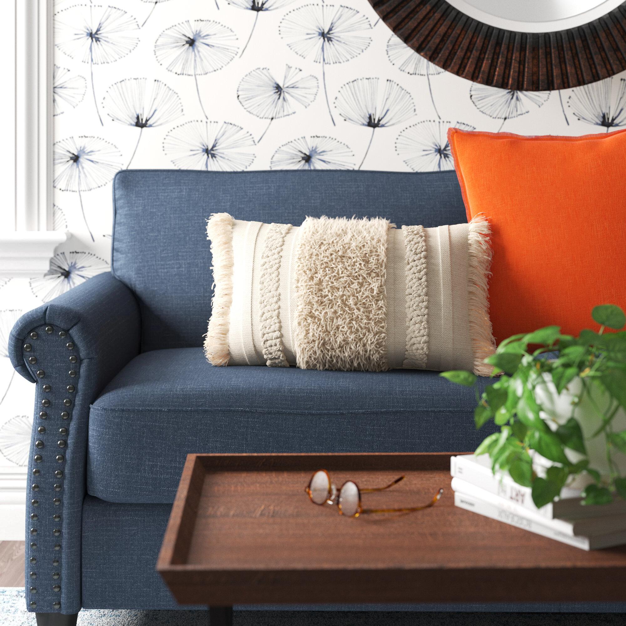 Washington Mews Cotton Feathers Striped Lumbar Pillow Reviews Joss Main