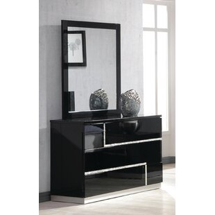 Reviews Lowrey 3 Drawer Dresser with Mirror by Wade Logan