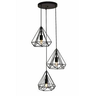 Wrought Studio Mullikin 3-Light Cluster Pendant