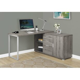 Dariell 3 Drawer L-Shape Corner Desk by Latitude Run Best