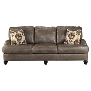 McDonald Leather Sofa by Darby Home Co