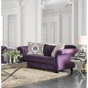 Lonergan Chesterfield Loveseat by Rosdorf Park Modern