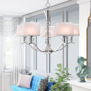 Rojo Crystal Ball 5-Light Shaded Chandelier by Willa Arlo Interiors