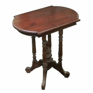 Laury Well-Made Wooden Pedestal End Table
