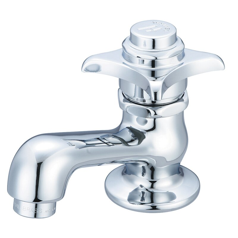 Central Brass 0255-C Single Hole Sink Faucet with Single Cross Handle