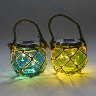 Solar Jar 2 Piece LED Landscape Lighting Set