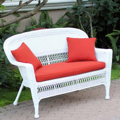 Awesome Birch Lane Heritage Alburg Loveseat With Cushions Fabric Red Inzonedesignstudio Interior Chair Design Inzonedesignstudiocom