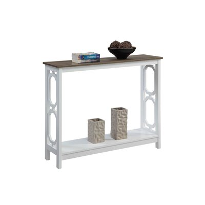 Ardenvor Console Table Table Base Color: White, Table Top Color: Driftwood by Beachcrest Home